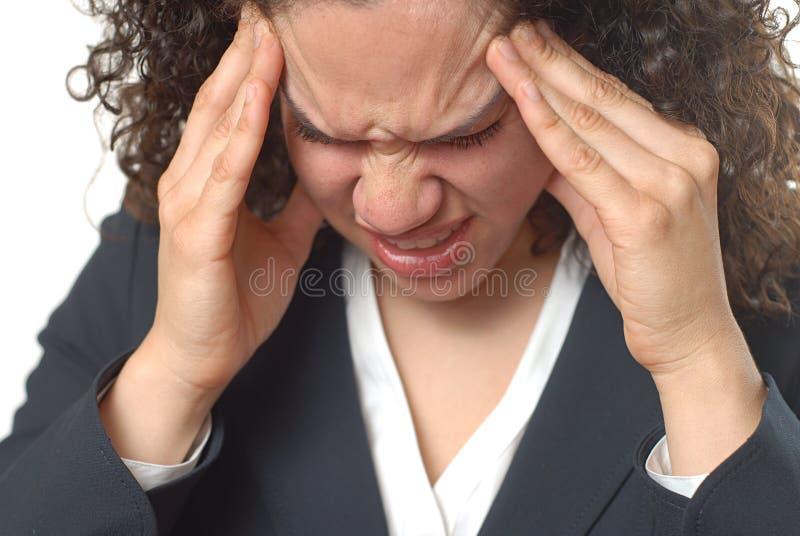 ужасное migrain стоковое изображение