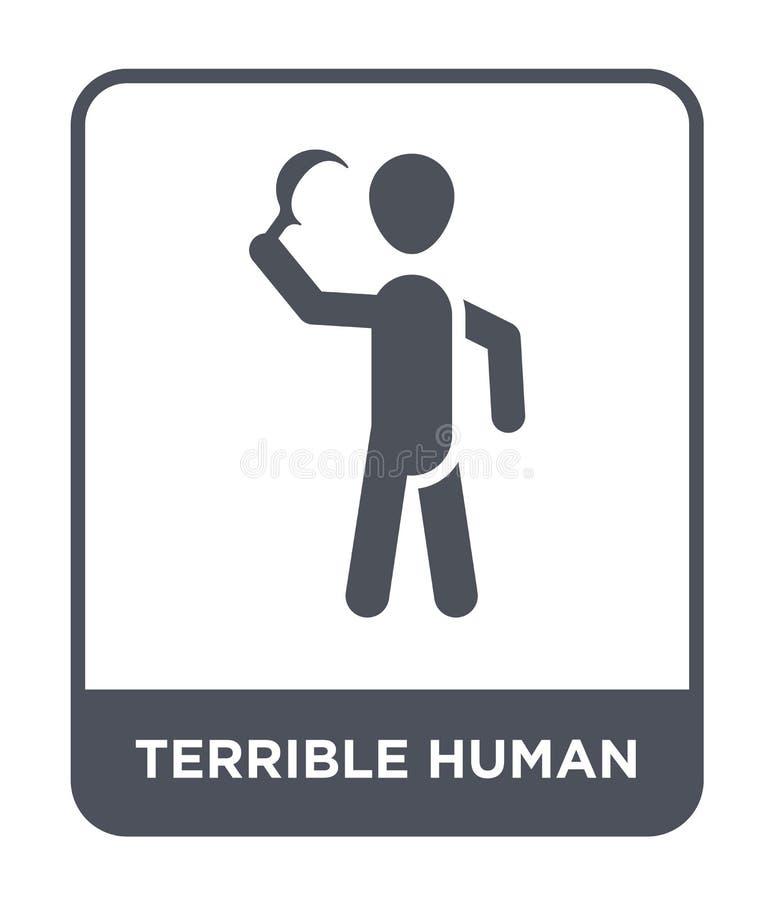 ужасный человеческий значок в ультрамодном стиле дизайна ужасный человеческий значок изолированный на белой предпосылке ужасный ч бесплатная иллюстрация