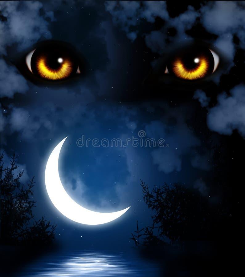 Ужас в ноче иллюстрация штока