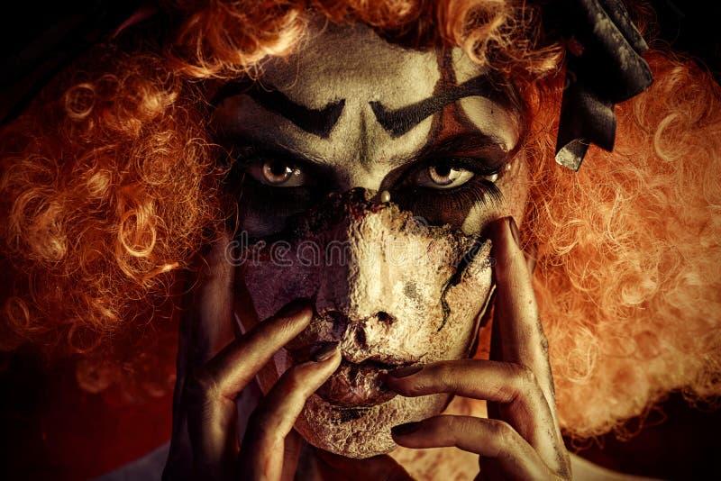 Ужас состава клоуна стоковое изображение