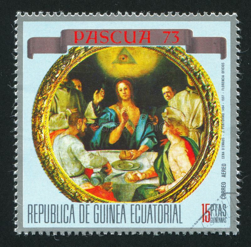 Ужин на Emmaus стоковое изображение