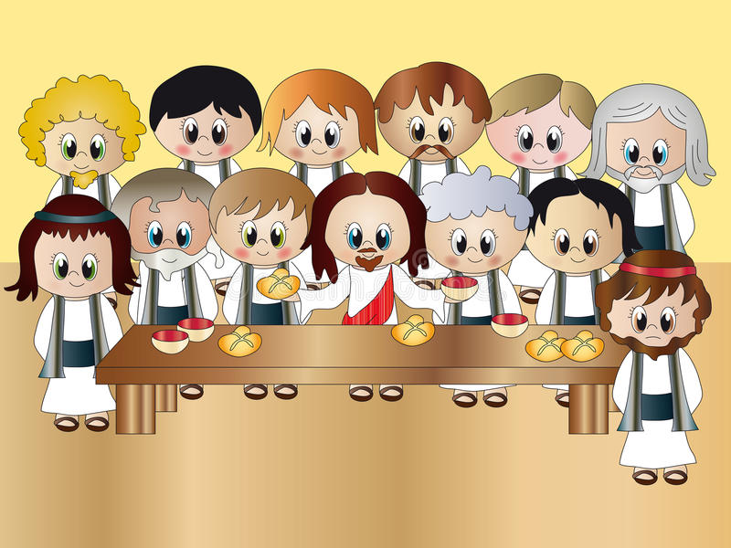 ужин jesus последний иллюстрация вектора