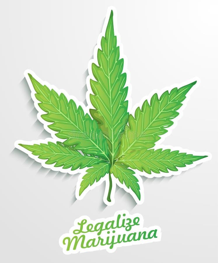Узаконьте марихуану иллюстрация штока