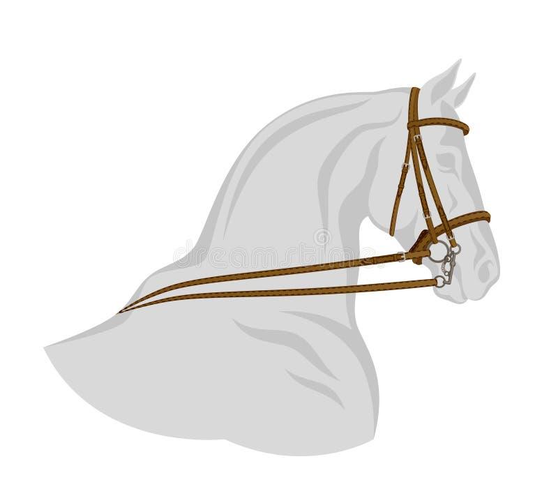 Уздечка на лошади иллюстрация штока