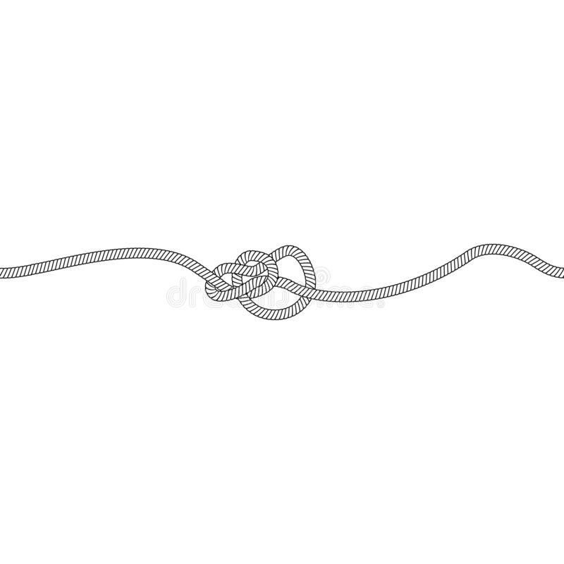 Узел булиня или петля морских и морских веревочки, шнура или кабеля бесплатная иллюстрация