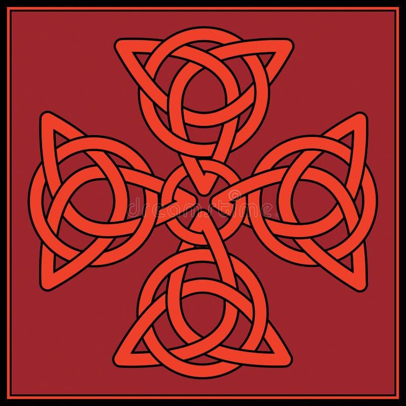 узел кельтского креста иллюстрация вектора
