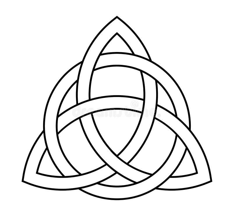 Узел Trigurtas кельтский подписывает внутри средние возрасты иллюстрация штока