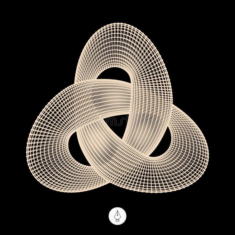 Узел трилистника Структура соединения иллюстрация вектора