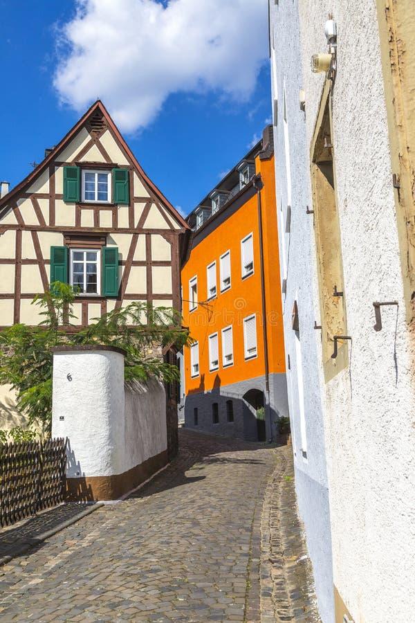 Узкая улица в Германии стоковые фотографии rf