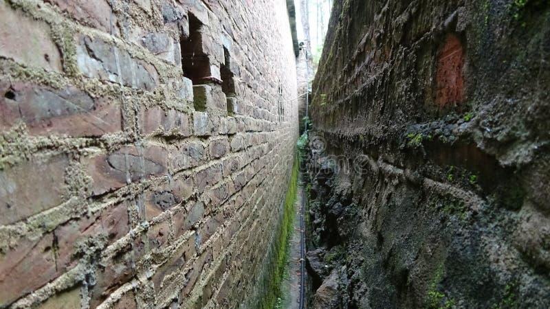 Узкий зазор между стеной и стеной стоковое фото rf