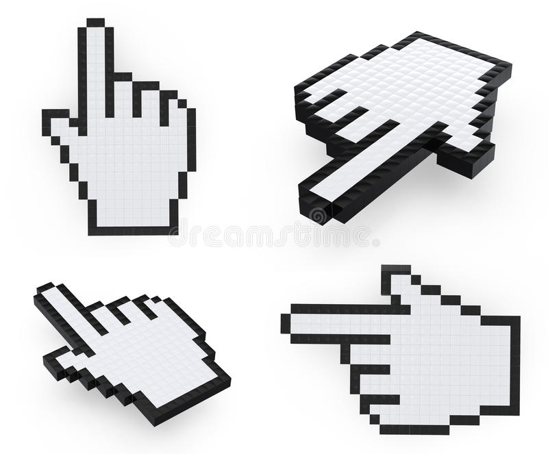 Download указатели руки Pixelated мышью Иллюстрация штока - иллюстрации насчитывающей стрелка, экран: 18391148