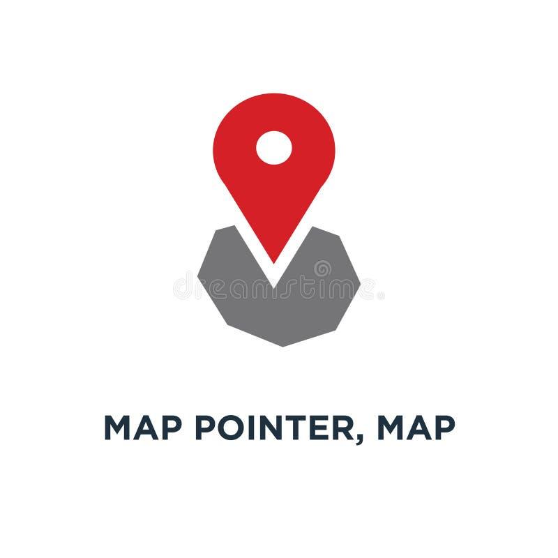 указатель карты, штырь карты, значок карты штырь стрелки, положение gps компаса иллюстрация штока