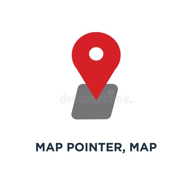 указатель карты, штырь карты, значок карты штырь стрелки, положение gps компаса бесплатная иллюстрация
