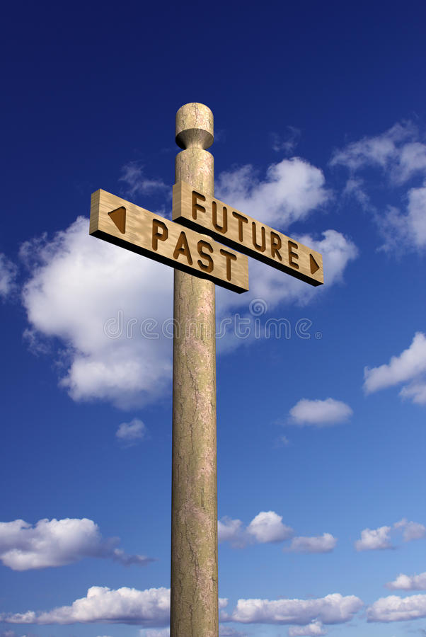 указатель прошлого будущего бесплатная иллюстрация