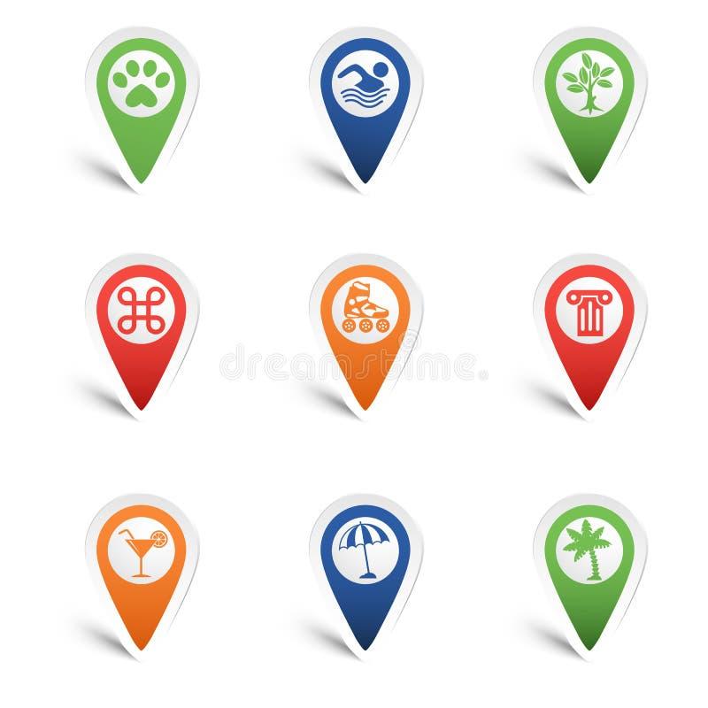 Указатели карты бесплатная иллюстрация