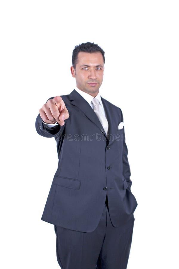 указывать бизнесмена стоковое фото rf