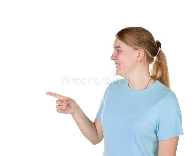 указывать девушки подростковый стоковое фото rf