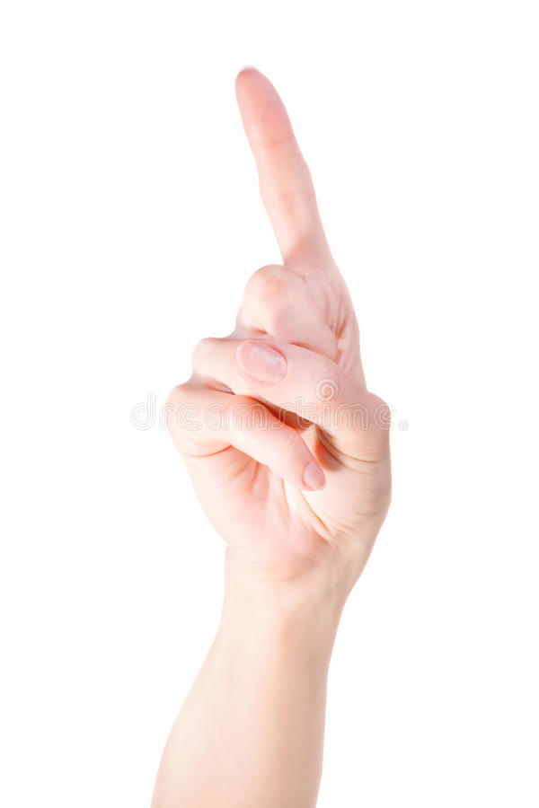 Указывать жест пальца поднимающий вверх стоковые изображения