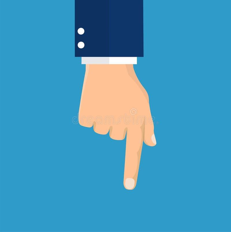указывать индекса руки перста иллюстрация штока