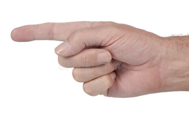 Указывать мыжская рука стоковые фотографии rf