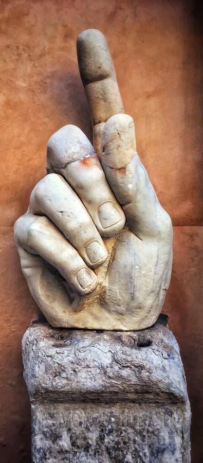 Указывать палец императора Константина стоковая фотография rf