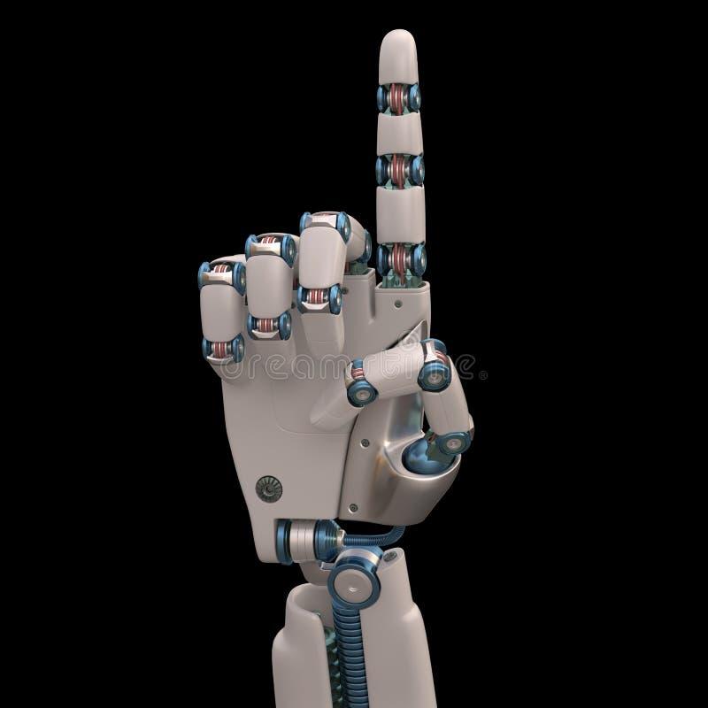 указывать робот стоковая фотография rf