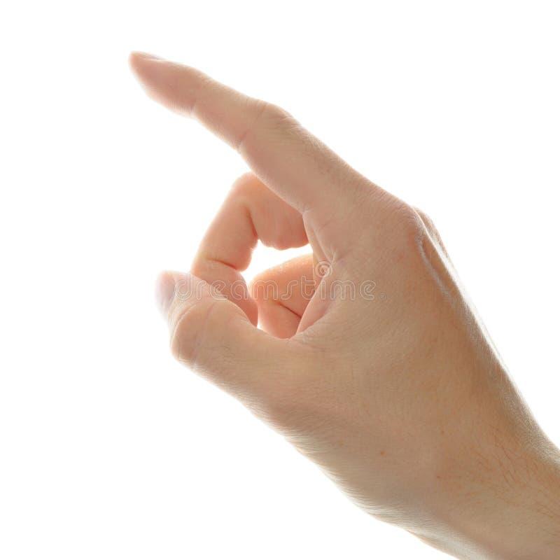 указывать руки перста стоковые фотографии rf