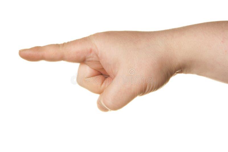 указывать руки стоковая фотография