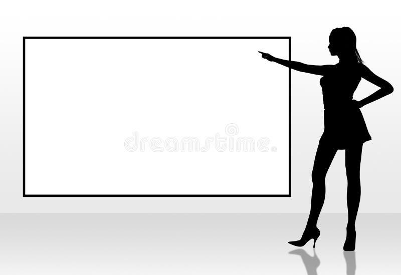 указывая женщина бесплатная иллюстрация