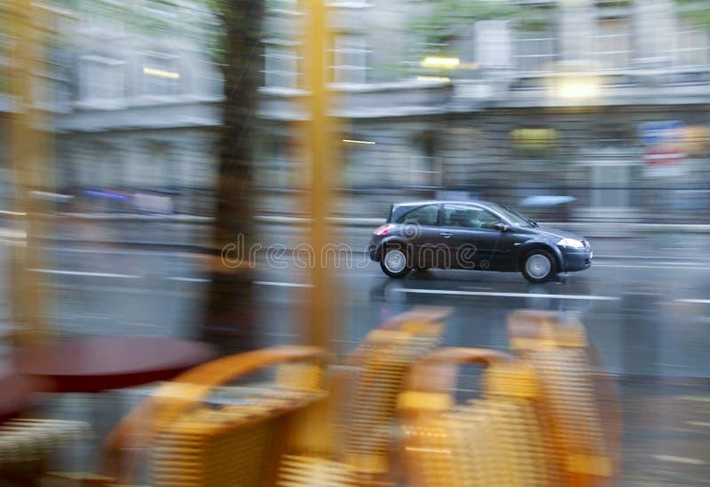 укладка в форме влияния дня автомобиля ненастная стоковая фотография