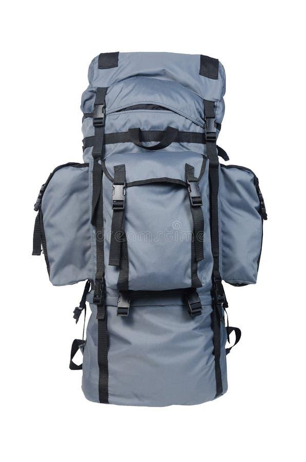 Укладывайте рюкзак оборудование на белизне с путем клиппирования стоковое изображение
