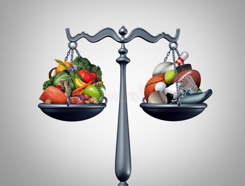 уклад жизни баланса здоровый иллюстрация вектора
