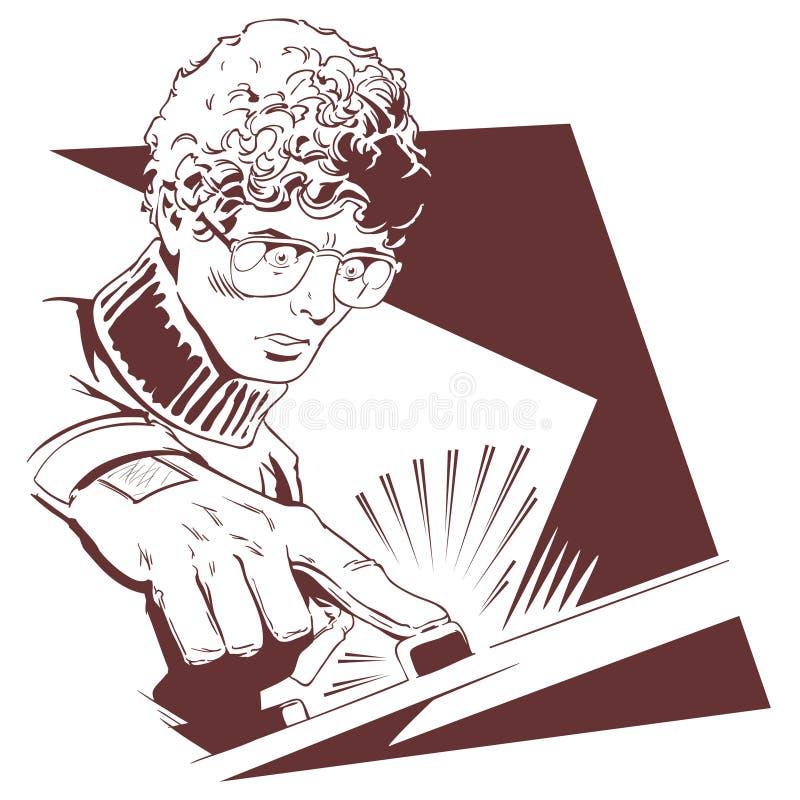 Укомплектуйте личным составом в кнопке стекел шток померанца иллюстрации предпосылки яркий бесплатная иллюстрация
