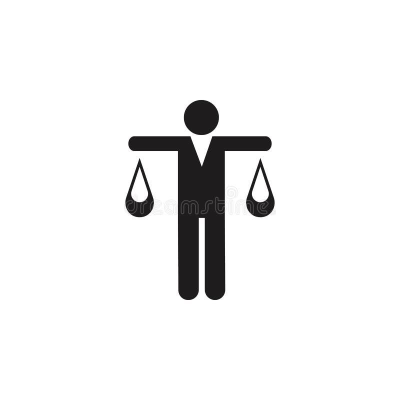 укомплектуйте личным составом в форме значка весов Детальный значок головного значка звероловства и работника Наградной качествен бесплатная иллюстрация