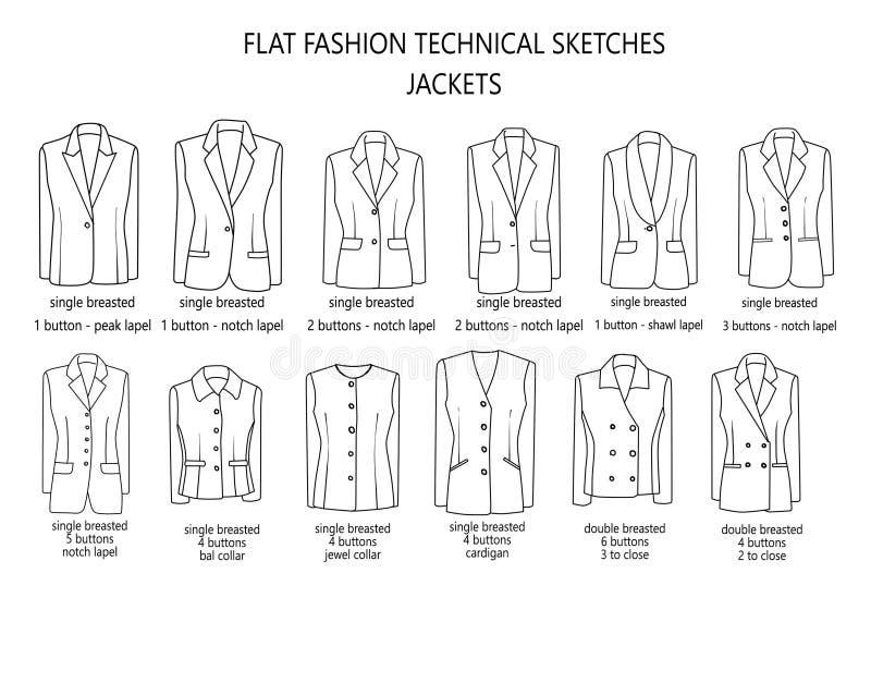 Укомплектуйте личным составом собрание библиотеки курток костюма - техническое и промышленное курток ` s человека иллюстрация вектора