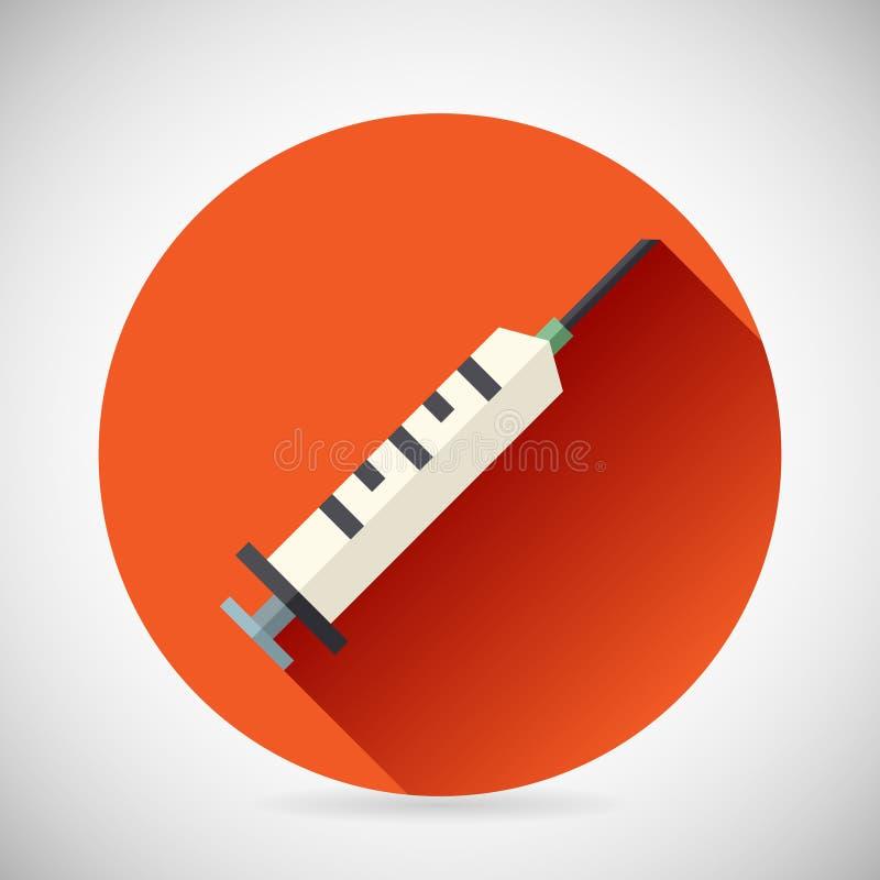 Укол шприца символа стационарного лечения медицинский иллюстрация штока