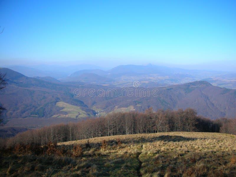 Украина прикарпатский взгляд сверху гор стоковая фотография