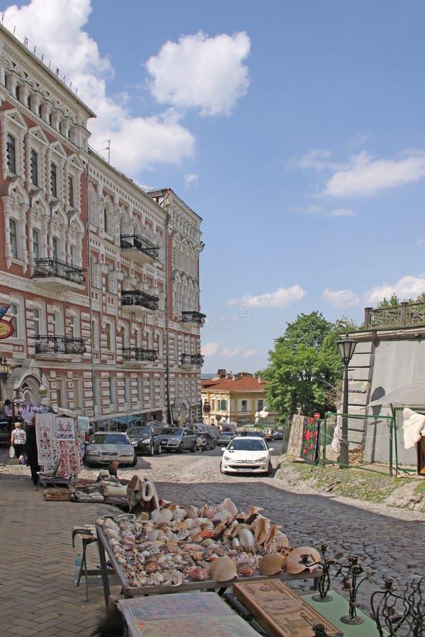Украина kiev Спуск Andriyivskyy стоковая фотография rf