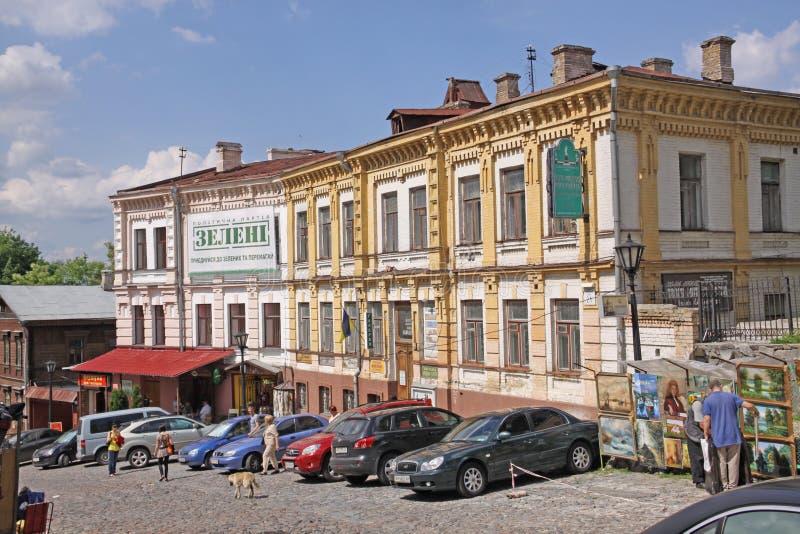 Украина kiev Спуск Andriyivskyy стоковое фото rf