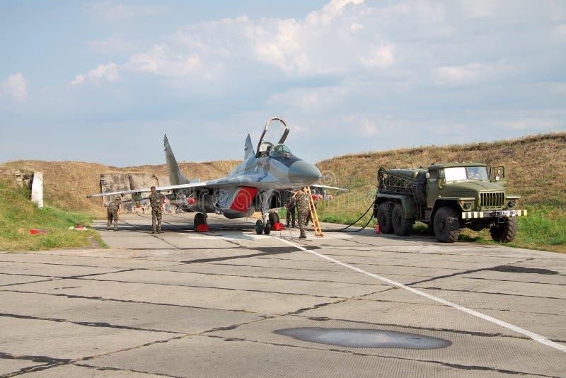 Украинская военновоздушная сила MiG-29 стоковая фотография