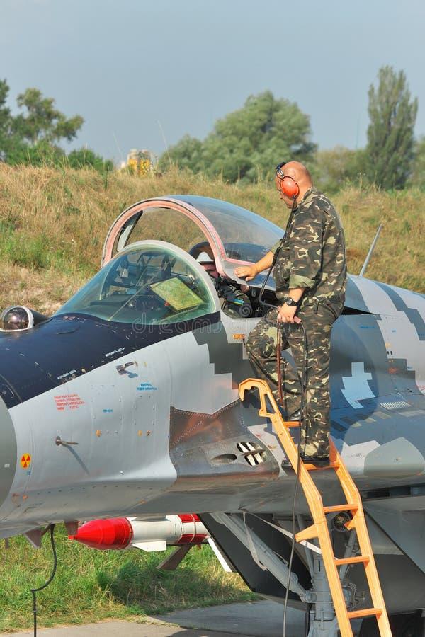 Украинская военновоздушная сила MiG-29 стоковые изображения