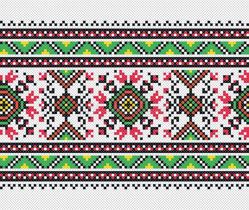 Украинская картина вышивки стоковое фото