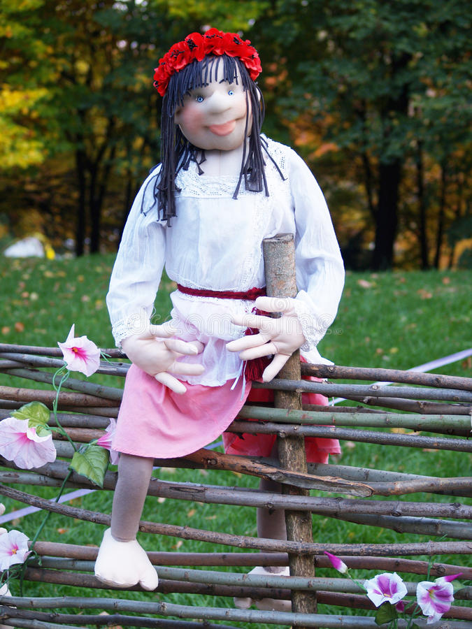 Украинская национальная кукла стоковое изображение rf