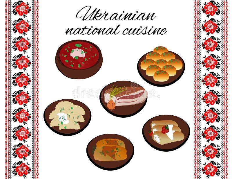 Украинская национальная кухня бесплатная иллюстрация