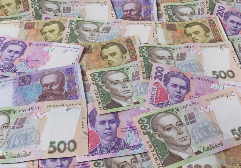 Украинская предпосылка банкнот стоковое изображение rf
