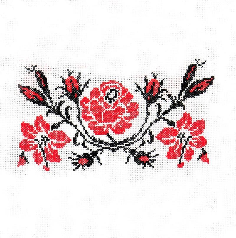 Украинская фольклорная вышивка, народные искусства и ремесла, handmade иллюстрация вектора
