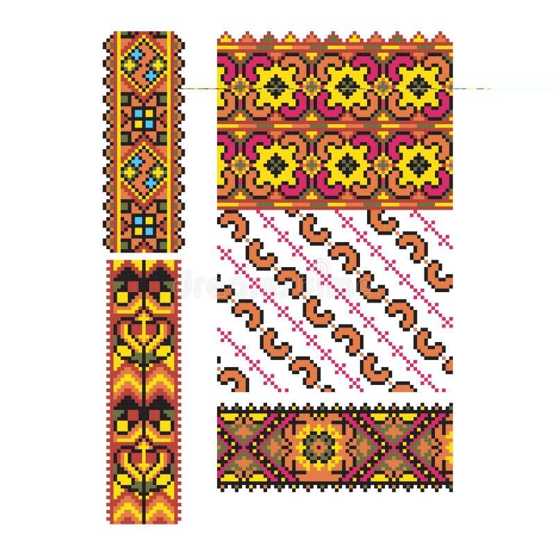 Украинская часть 1 вектора орнамента иллюстрация вектора