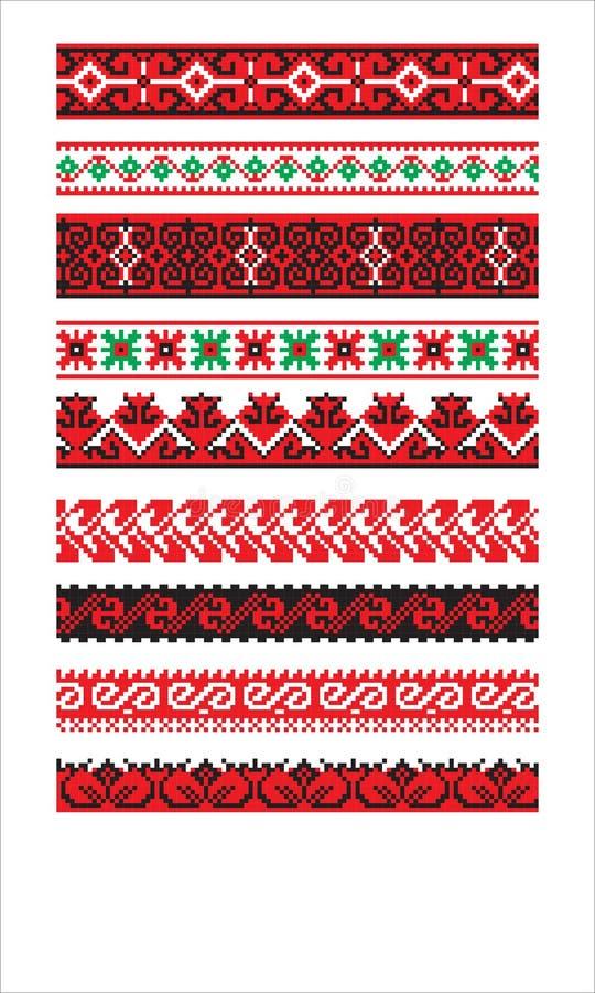 Украинская часть 3 вектора орнамента иллюстрация вектора