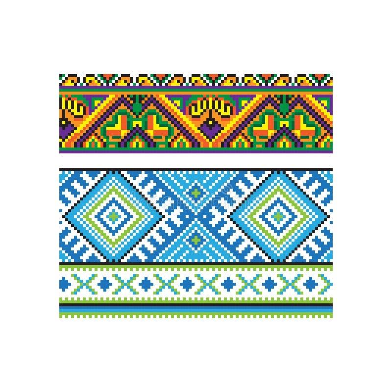 Украинская часть 7 вектора орнамента иллюстрация вектора