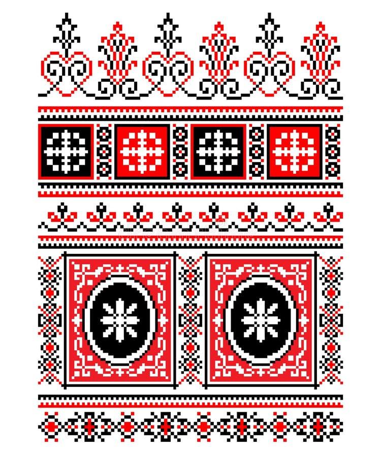 Украинский национальный орнамент иллюстрация вектора